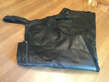 Harley Davidson Womens DURHAM Leather Chaps Size 2XL - Lined