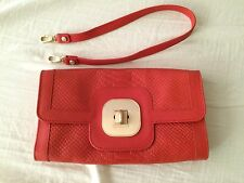 Longchamp Gatsby Python Clutch Orange
