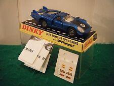 """Dinky No: 210 """"Alfa Romeo 33 Tipo Le-Mans"""" - BLUE (RARE/Original 1970's)"""