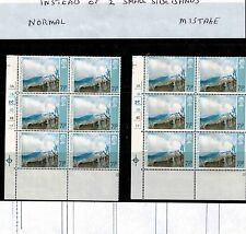 ERROR 1971 ULSTER 7 1/2p cylinder block of 6 large phos shift on all 6 stamps