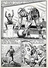 FINALE DE COUPE FOOTBALL (ROBERT HUGUES) PLANCHE ORIGINALE PILAR SANTOS PAGE 41