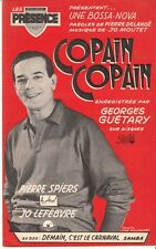 LIVRET PARTITION GEORGES GUETARY & JACK IRSA *COPAIN COPAIN* & *DEMAIN CARNAVAL*