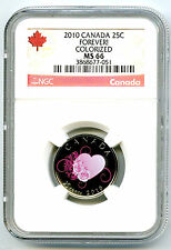 2010 CANADA 25 CENT NGC MS66 FOREVER! QUARTER RARE LESS THAN 10,000 MINTED !!