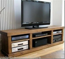 (any size made) SOLID WOOD RUSTIC PINE BENCH TV STAND PLANK ENTERTAINMENT UNIT