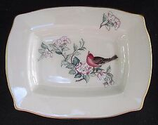 Vintage Lenox Serenade Jewelry Dish Floral Bird Soap Dish Nut Plate USA