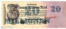 Allemagne GERMANY REICHSBANKNOTE Billet 20 MILLION MARK 1923 P97 WEIMAR REPUBLIC