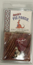 Aussie's Kangaroo Pic Pouch Fender Guitar Pick Holder Maroon/Tan -Pics VARY