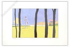 Affiche Avril François Golf Putting 01 2014 estampe numérotée et signée 40x60 cm