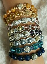 Bracelet set of 8 + pouches (Shamballa)