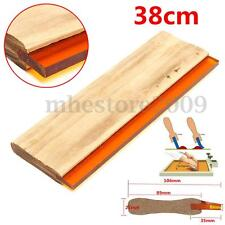 "15"" Silk Screen Printing Squeegee Square Blade Wood Handle Ink Scraper 38cm New"