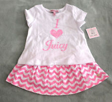 NWT Authentic Juicy Couture Infant Baby Girl White Pink Top & Skort (6-12M) skir