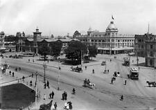 Photo. 1900s. Christchurch, New Zealand. Sky View Cathedral Square - streetcar