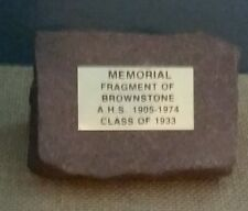 Memorial Piece of Brownstone from Altoona High School Blair Co. PA (1905-1974)