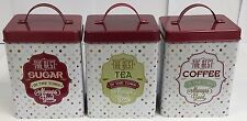 Retro Candy Shop Vintage Style Tea Coffee Sugar Canister Set
