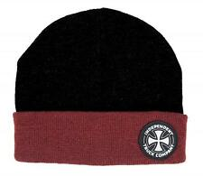 INDEPENDENT TRUCK CO ITC BEANIE BLACK / OXBLOOD