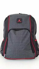 NWT NIKE AIR JORDAN Jumpman Backpack Black Gray Red LAPTOP Sleeve Bag 9A1223-023