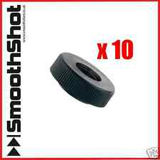 M6 BLACK NYLON KNURLED THUMB NUTS WITHOUT COLLAR x 10