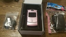 NEW FLOOR UNIT PINK VERIZON MOTOROLA V3M RAZR - GR8 COSMETICS GOOD CLEAN ESN