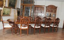 Victorian Dining Table Set Prince Wales Chairs Mahogany Suite Diner