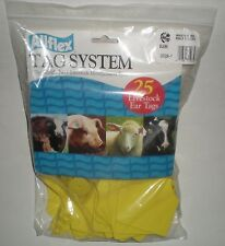 ALLFLEX TAG BLANK MAXI MALE YELLOW GXF/GSM-Y LIVESTOCK IDENTIFICATION 25/PACKAGE