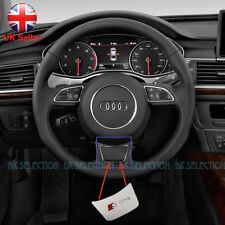 S line Metal Badge For Audi Steering Wheel A1 A3 A4 A5 A6 A7 Q3 Q5