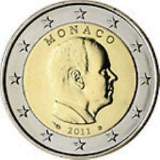 Monaco  2011     2 euro De gewone munt     UNC uit de rol  !!! Zeer zeldzaam !!!