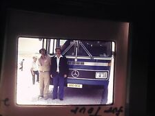slide Egypt Pyramid Desert town city Mercedes Benz Tour Bus Guide driver RARE