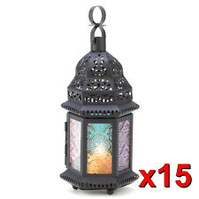 15 Wedding BLACK and Colorful Lantern TABLE DECORATION Event CENTERPIECES NEW