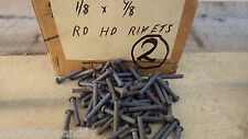 "PACK OF 50  1/8"" x 7/8"" ROUND HEAD STEEL IRON RIVETS  NOS RESTORE STEAM    BOX 2"