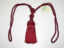 """Curtain & Chair Tie Back -30""""spread with 6""""tassel=7 bright colors to choose from"""