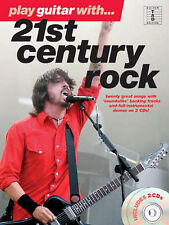Play Guitar 21st Century Rock: Guitar TAB Edition 2CD BACKING TRACKS FREE P&P