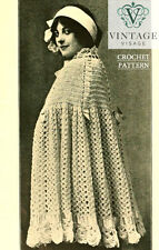 Vintage downton abbey era crochet pattern for a cape cloak-free UK postage