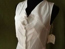 GARY GRAHAM - NYC - White Cotton Shirtwaist Dress - Asymetrical Bodice - Size 4
