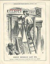 1863 Punch Cartoon John Russell's Last Job Elliot Hudson Turin