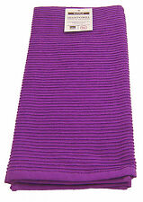 Now Designs Prince Purple Single 100% Cotton Ripple Tea Towel Dish Drying Cloth