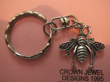 Handmade Tibetan Silver Honey Bee Keyring Organza Gift Bag Hives Bee Keeping
