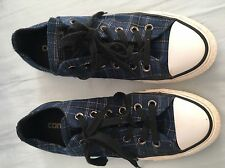 Converse All Star Women's Blue Plaid, Size 7 1/2 USA