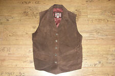 WOMENS RIVER ISLAND SUEDE WAISTCOAT SIZE SMALL 8 / 10 BROWN DESIGNER