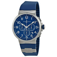 Ulysse Nardin Marine Chronograph Blue Dial Blue Rubber Mens Watch 15031503-63