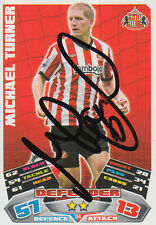 SUNDERLAND HAND SIGNED MICHAEL TURNER 11/12 MATCH ATTAX CARD.