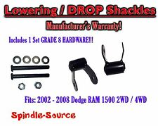 "2002 - 2008 Dodge Ram 1500 2"" Drop Lowering Shackles 2WD 4x4 + Grade 8 hardware"