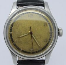 VINTAGE 1940's Omega Suveran 35mm Stainless Steel Mens Manual Watch 30T2 SCPC