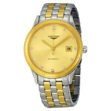 Longines Flagship Automatic Gold Dial Two-tone Mens Watch L48743377