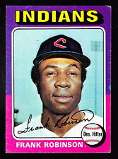 1975 TOPPS #580 FRANK ROBINSON INDIANS