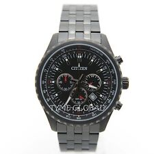 Citizen AN8065-53E Men Stainless Steel Chronograph Black Dial Tachymeter Watch
