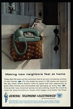 1962 GENERAL TELEPHONE & ELECTRONICS - Making New Neighbors - GTE - VINTAGE AD
