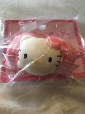 Hello Kitty 1997 New Plush Face Bow Pink Cat Hair Tie Rubber Band