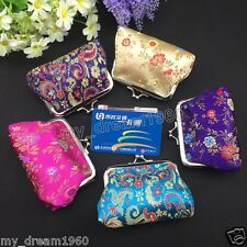 10pcs Chinese Mix Color Embroidered Silk Jewelry Pouch/Coin Purse Clutch Bags