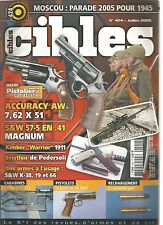 "CIBLES N°424 ACCURACY AW 7.62x51 / S&W 57-5 EN .41 MAGNUM / KIMBER ""WARRIOR"""