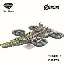 GEM Avengers The Helicarrier Aircraft Mini Diamond Building Nano Block Kids Toy